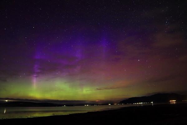 Edwina Aitken Northern Lights in Oban