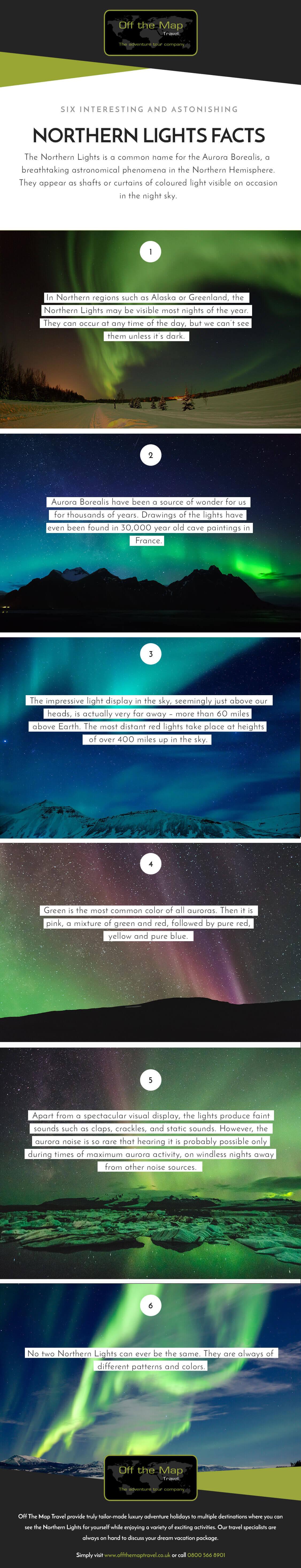 Text Version: Six Astonishing Northern Lights Facts